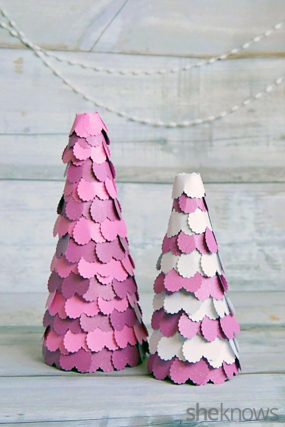 Valentine's Day heart trees