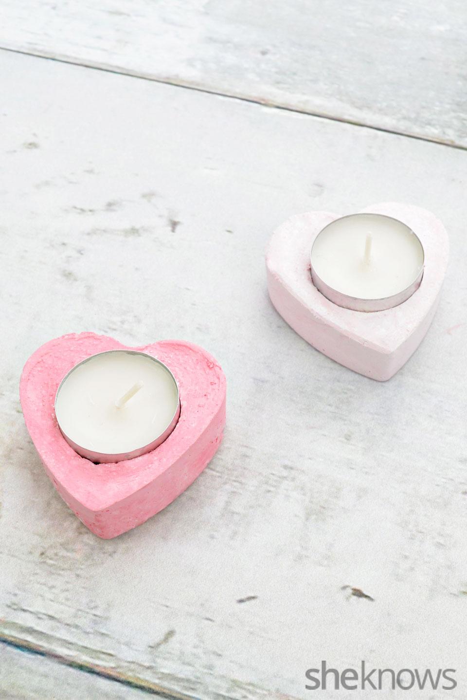 Heart-shaped votive holders