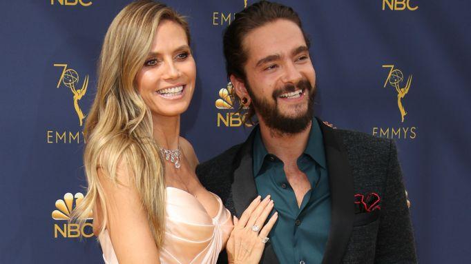 Photo of Heidi Klum and Tom Kaulitz at the 2018 Emmys