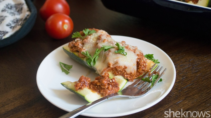 Chicken Parmesan zucchini boats — easier