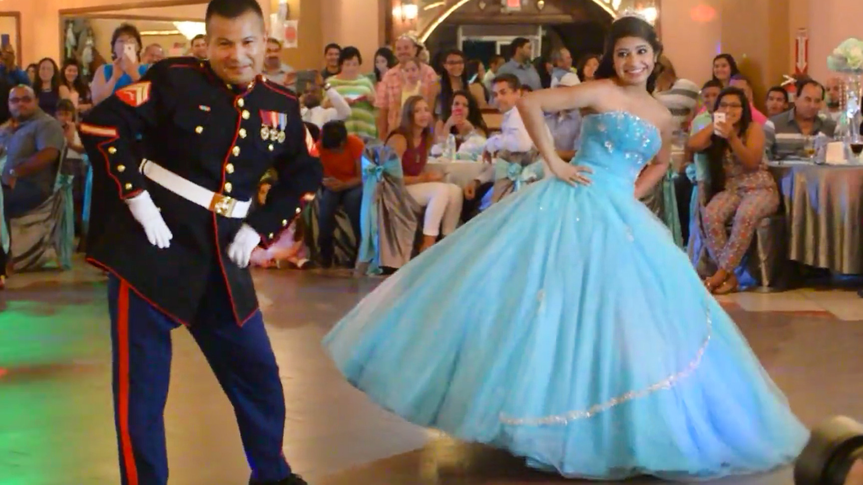 Dad And Daughter Blow Guests Away With Surprise Dance At