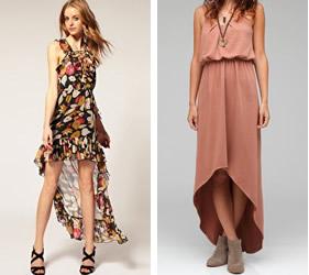 High-low hem dresses