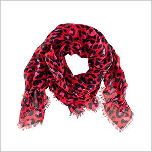 H&M leopard scarf