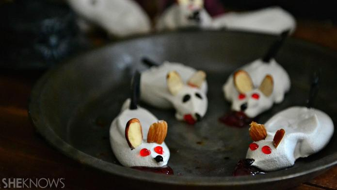 How to make creepy, bloody meringue