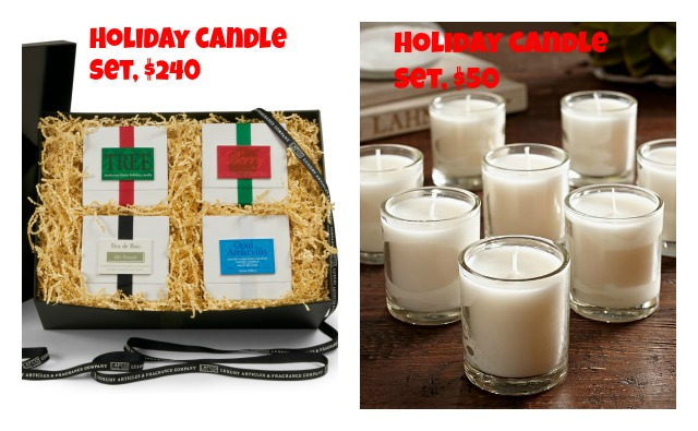 holiday candle sets
