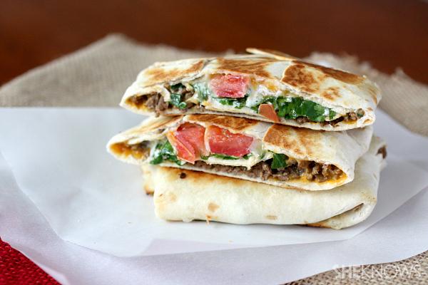 Homemade taco wraps