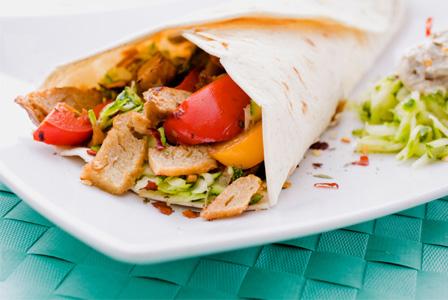 Homemade vegan burrito