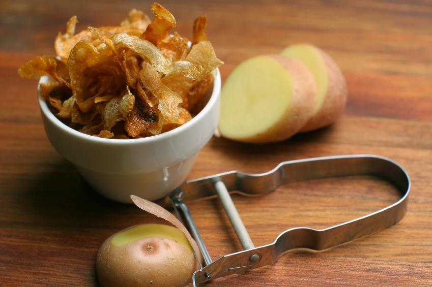 Tray of potato chips