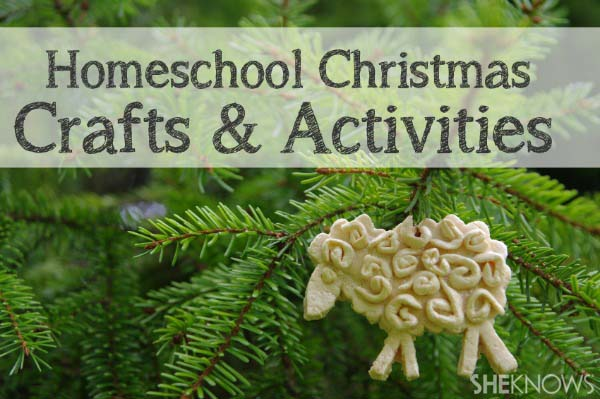 Homeschool Christmas crafts