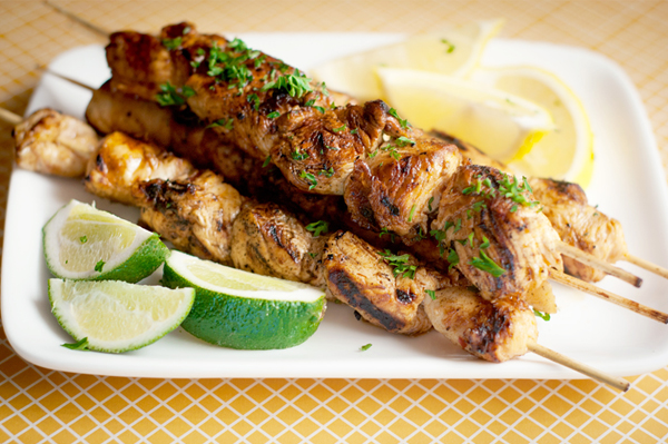 Honey chipotle lime grilled chicken kabobs recipe