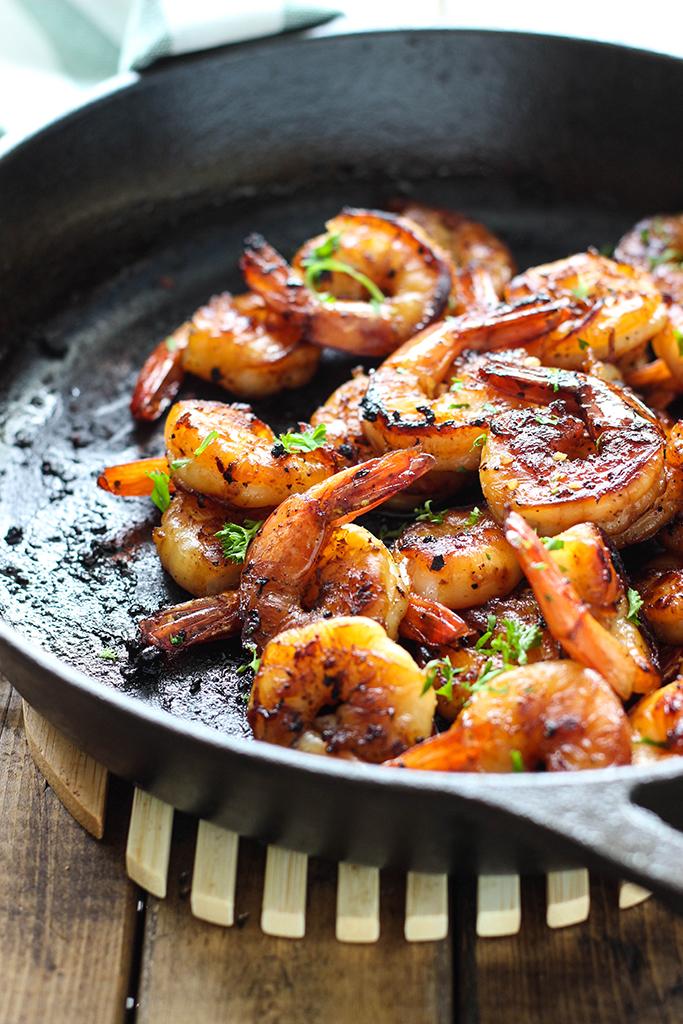 honey shrimp skillet