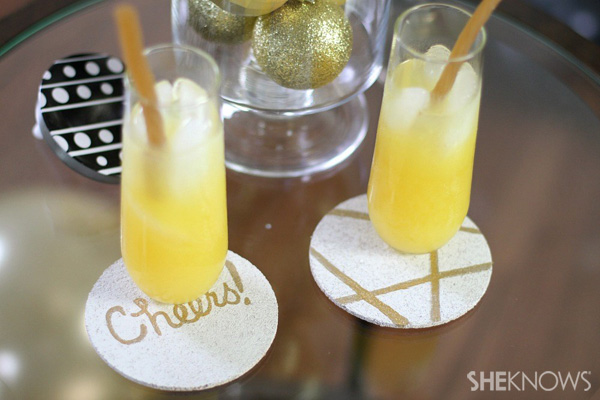 New Year's Eve party | DIY cork coaster