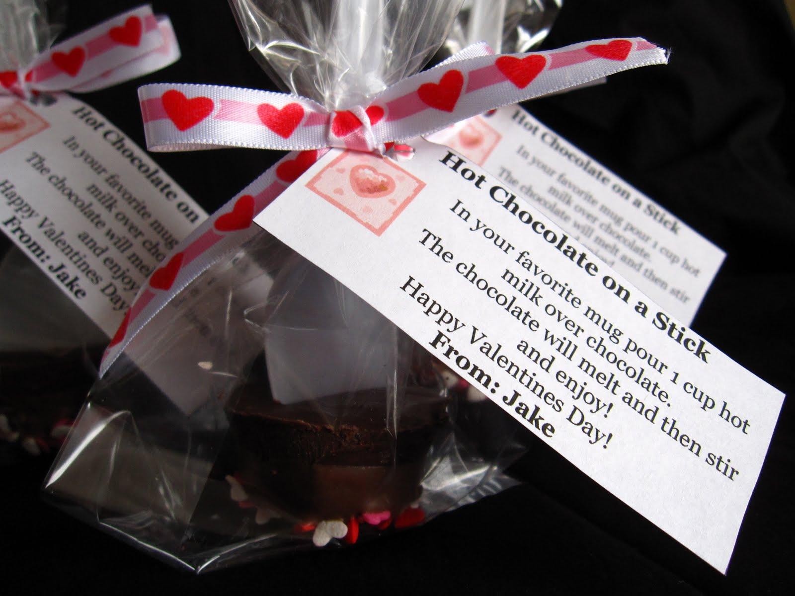 valentine's hot chocolate on a stick