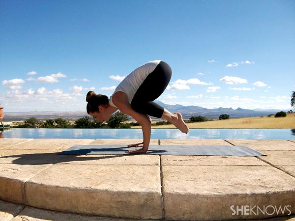 How to conquer crow pose -- Step 3