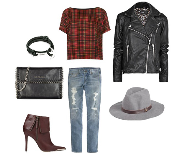 Plaid for girls' night out
