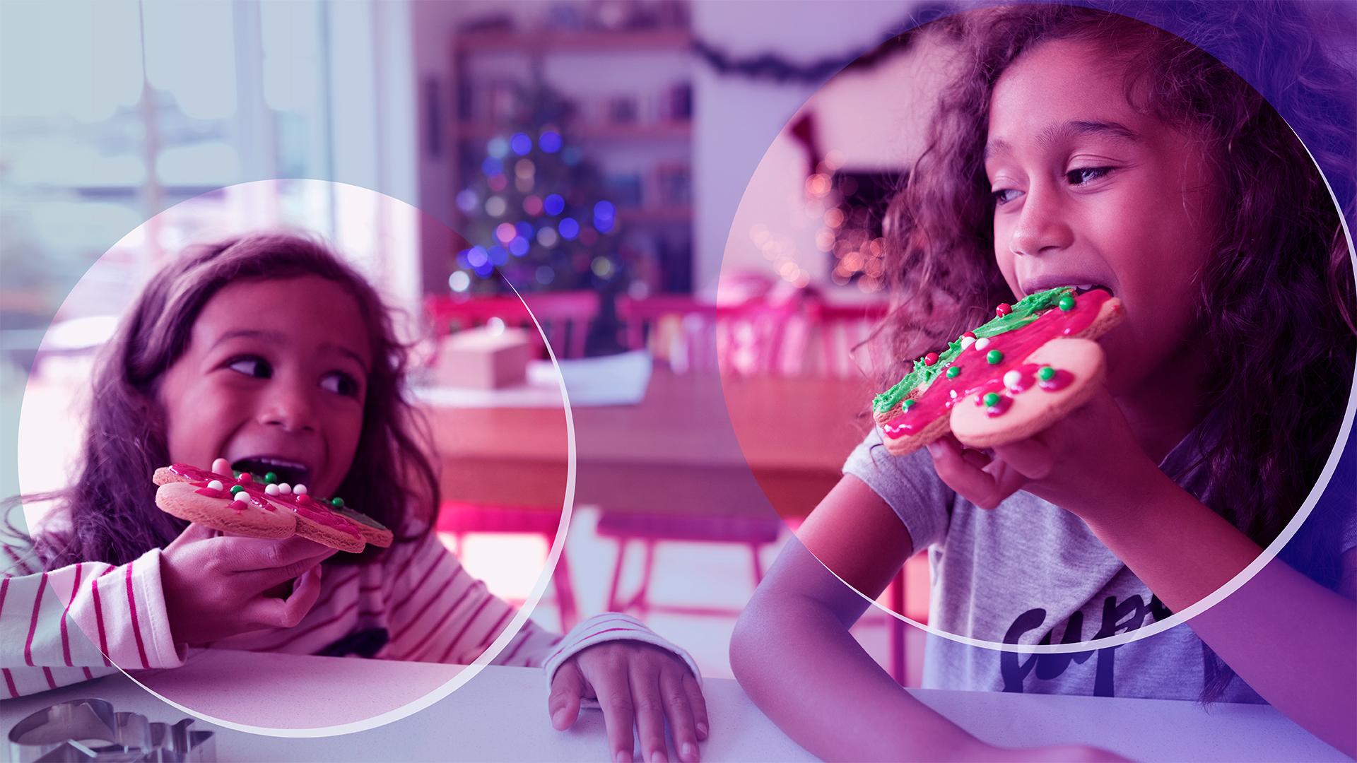 kids holiday cookies christmas