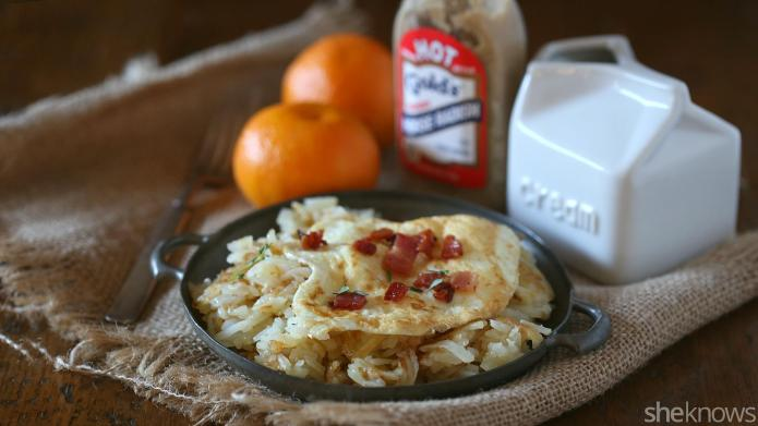Horseradish hash browns are a luxurious