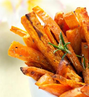 Cumin spiced baked sweet potato fries