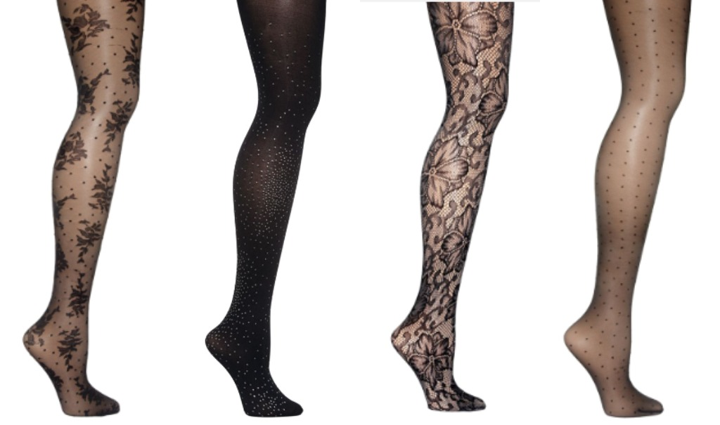 hue patterned tights textured tights