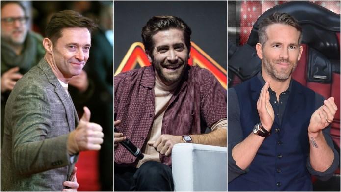 Hugh Jackman; Jake Gyllenhaal; Ryan Reynolds.