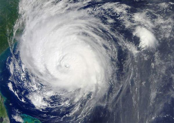 Hurricane over North Carolina