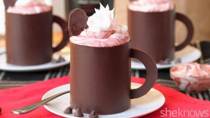 How to make edible chocolate mugs