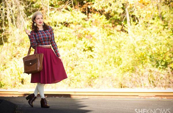 Fall outfits that rock plaid and