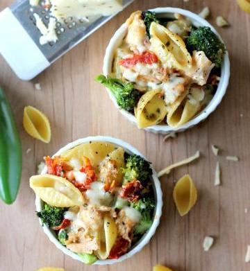 Broccoli chicken macaroni and cheese