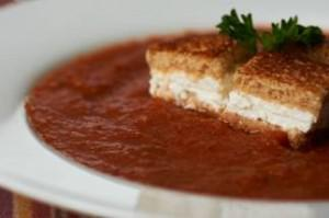 Vegetarian: Irresistible Gazpacho with Goat Cheese