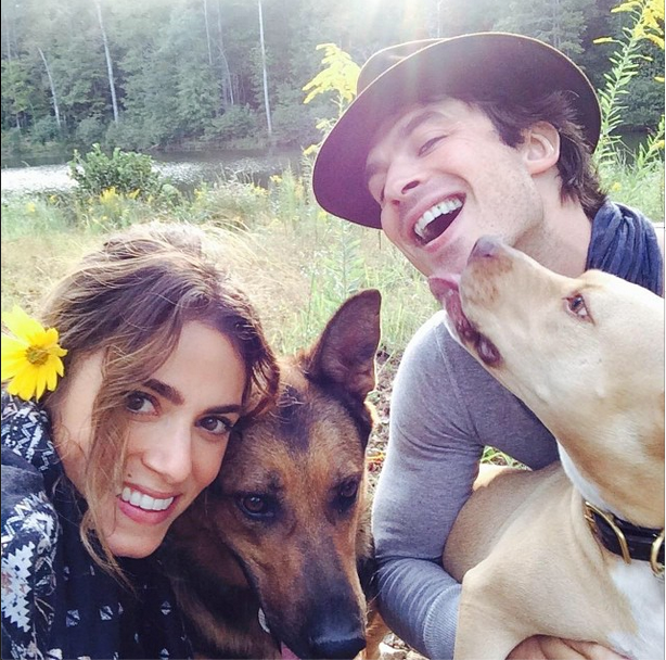 Ian Somerhalder shares adorable picture with new gf Nikki Reed and beloved dogs