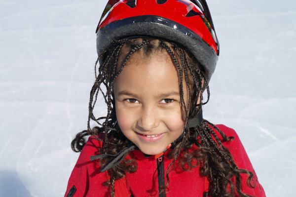 Ice Skating Girl with Helmet