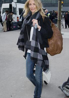 Scarves: Celebrity travel style essential
