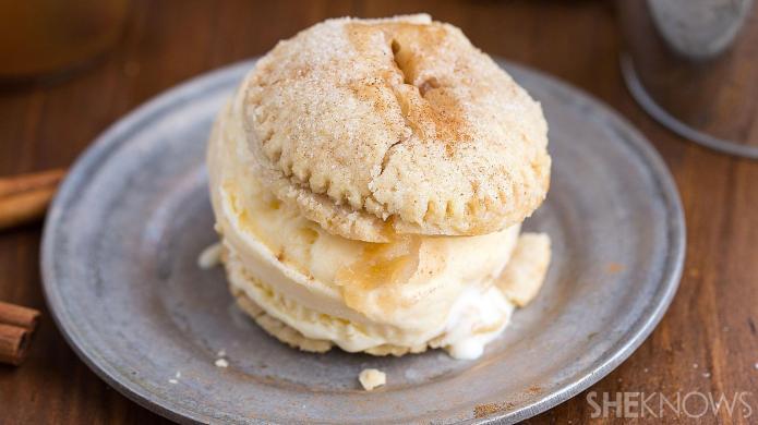 Mini apple pie ice cream sandwiches
