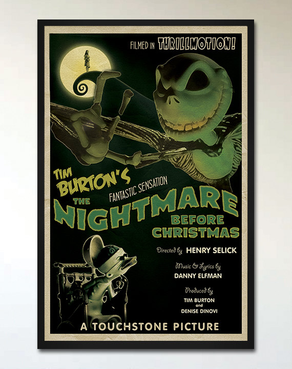 The Nightmare Before Christmas on RadRetroMoviePosters