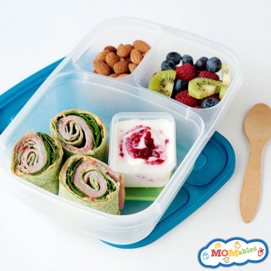 Start with a compartmentalized lunch container