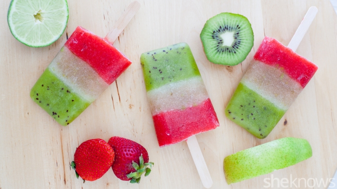 Fruity margarita ice pops are a