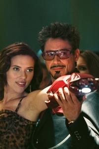 Iron Man 2 stars Scarlett Johansson and Robert Downey Jr
