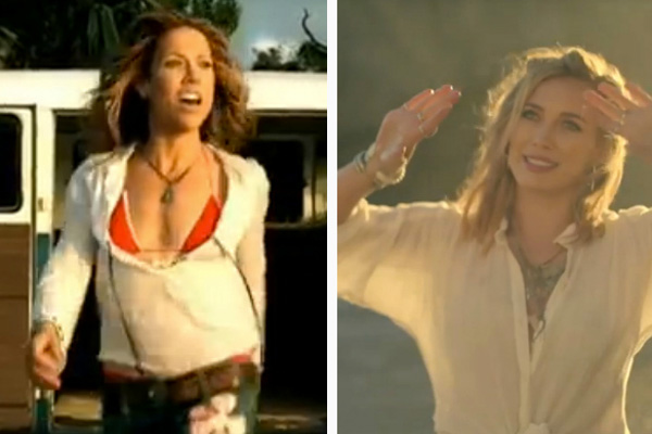Sure, Hilary Duff's new music video and single,