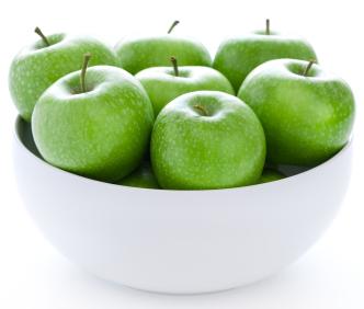 Granny Smith apples in bowl