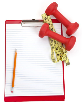 Clipboard, tapemeasure, and weights | Sheknows.ca