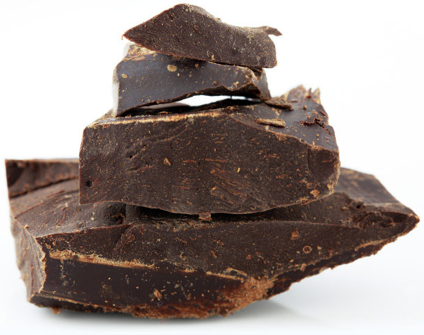 isolated raw chocolate