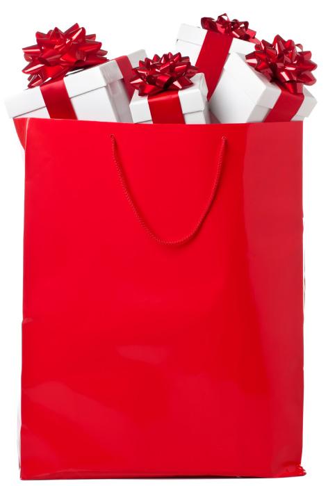 Red Christmas bag