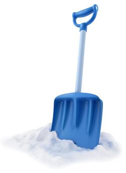 Blue snow shovel | Sheknows.com
