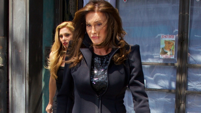 Caitlyn Jenner leaves American costume designer