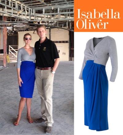 Pregnant Ivanka Trump in Isabella Oliver dress