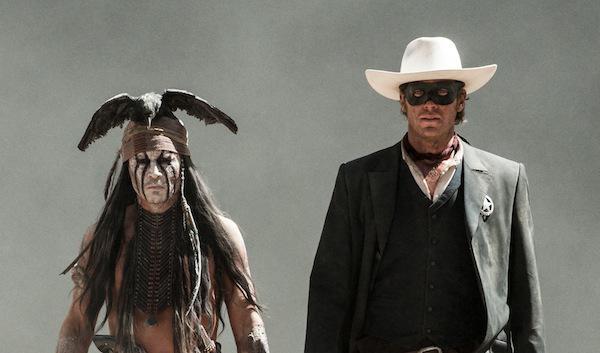 Johnny Depp transforms into Tonto for