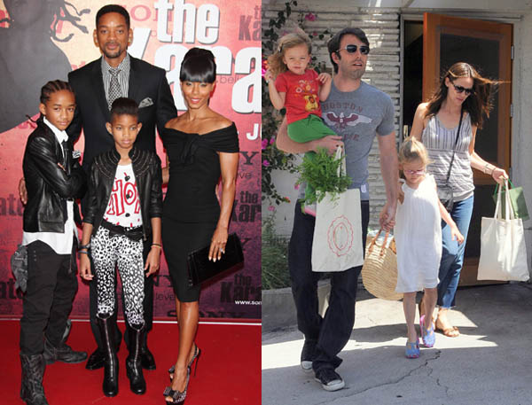 Jada Pinkett Smith, Will Smith and Family - Ben Affleck, Jennifer Garner and kids