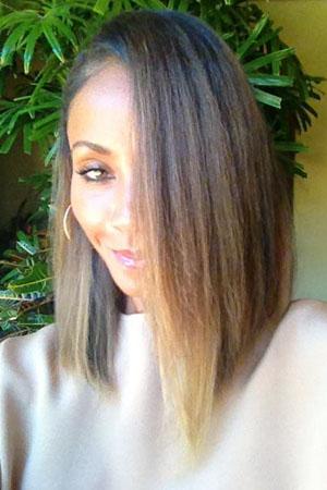 Jada Pinkett Smith ombre hairstyle