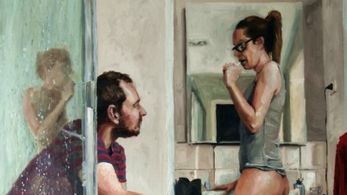 Husband's incredibly raw painting totally sums