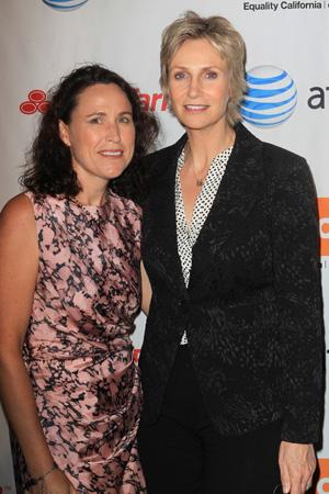 Jane Lynch and ex-wife Lara Embry